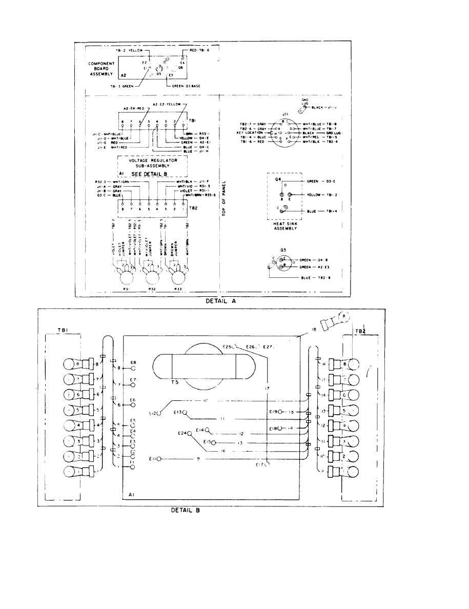 figure 1 13 exciter regulator a10 and all 400 hertz wiring diagram sheet 2 of 2