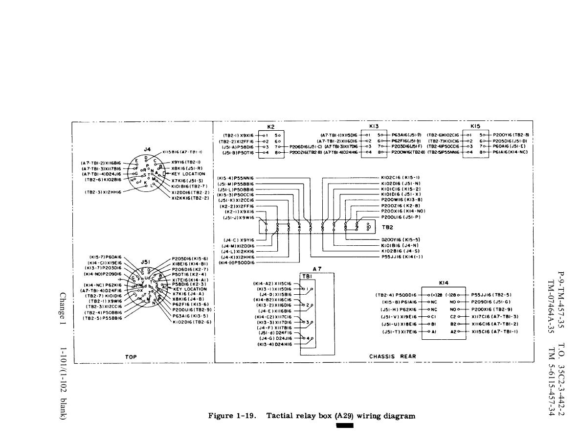 Figure 1 19 Tactical Relay Box A29 Wiring Diagram 120 208 3 Phase Tm 5 6115 457 34 Generator Set Diesel Engine Driven Skid Mtd 100 Kw 4 Wire And 240 416 Volts Manual Page Navigation