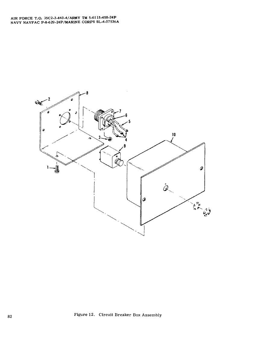 Figure 12 Circuit Breaker Box Assembly 120 Force Engine Diagram