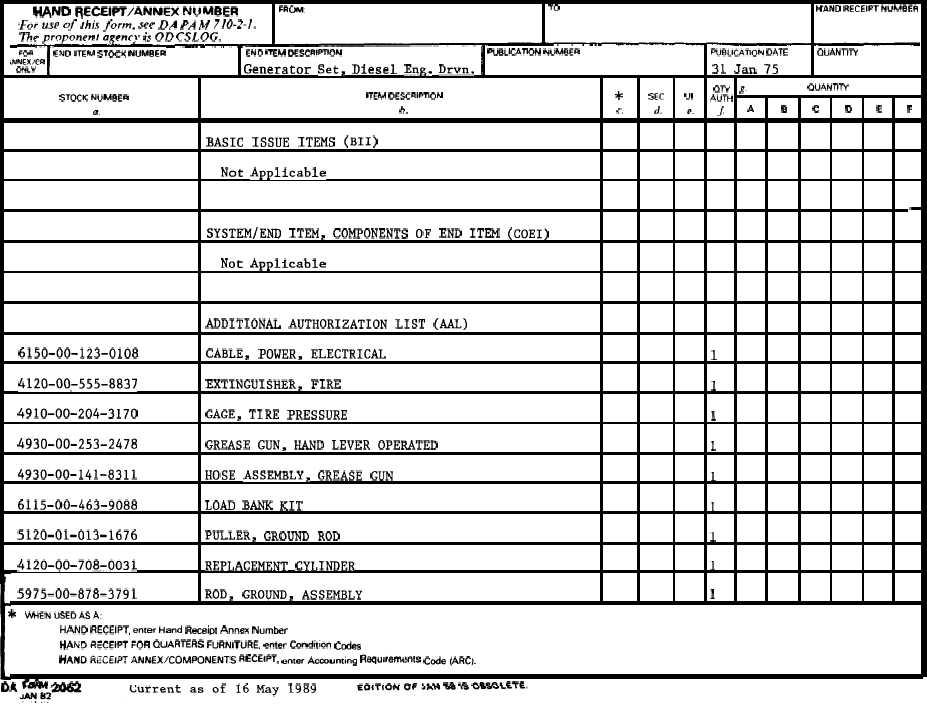 SECTION II - HAND RECEIPT - TM-5-6115-465-10-HR_8