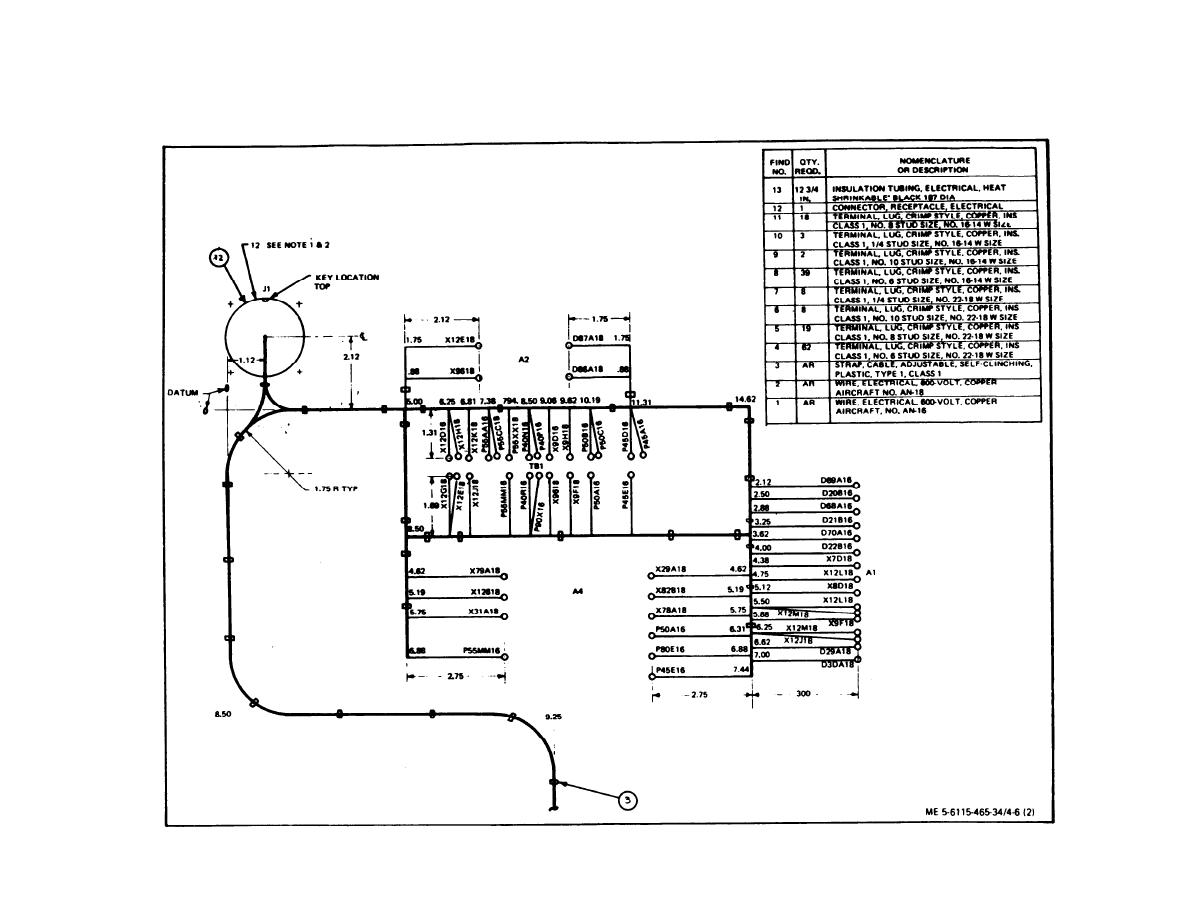 TM 5 6115 465 340175im figure 4 6 control cubicle wiring harness (sheet 2 of 3) drawing cubicle wiring harness at webbmarketing.co