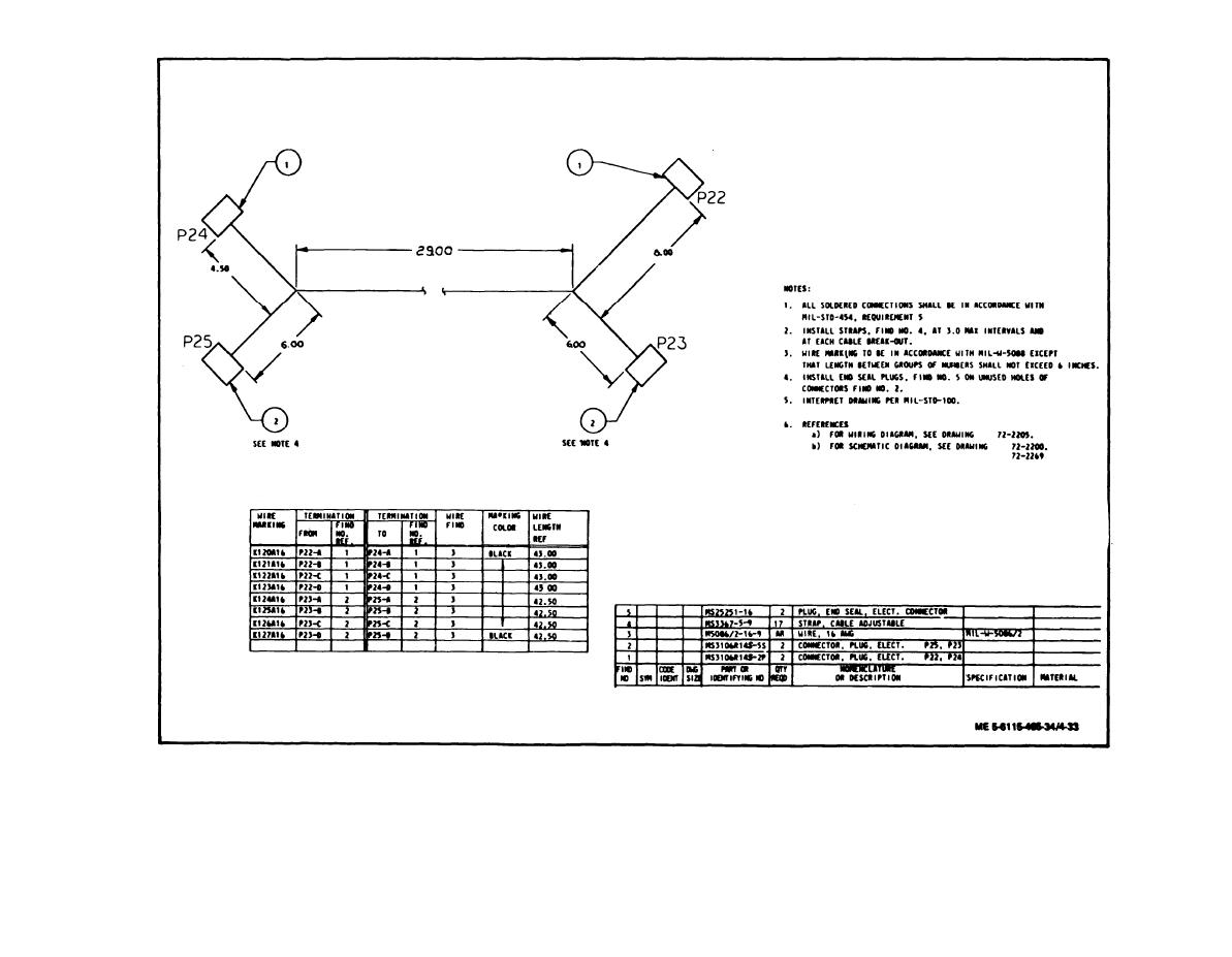 Figure 4 33 Governor Control Unit To Hydraulic Actuator Wiring P25 Diagram Tm 5 6115 465 34