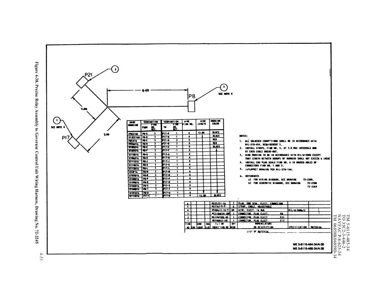 TM 5 6115 465 340231im figure 4 38 precise relay assembly to governor control unit wire harness drawing at fashall.co