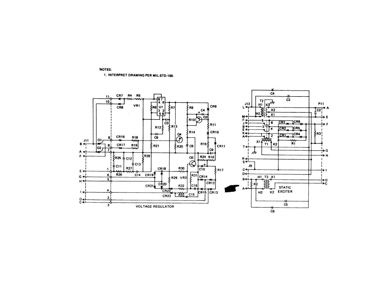 3 phase generator diagram exciter regulator  3  get free
