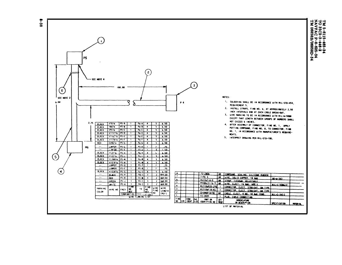 TM 5 6115 465 340384im figure 8 22 load bank signal wiring harness, drawing no 72 2830 wire harness drawing at mifinder.co