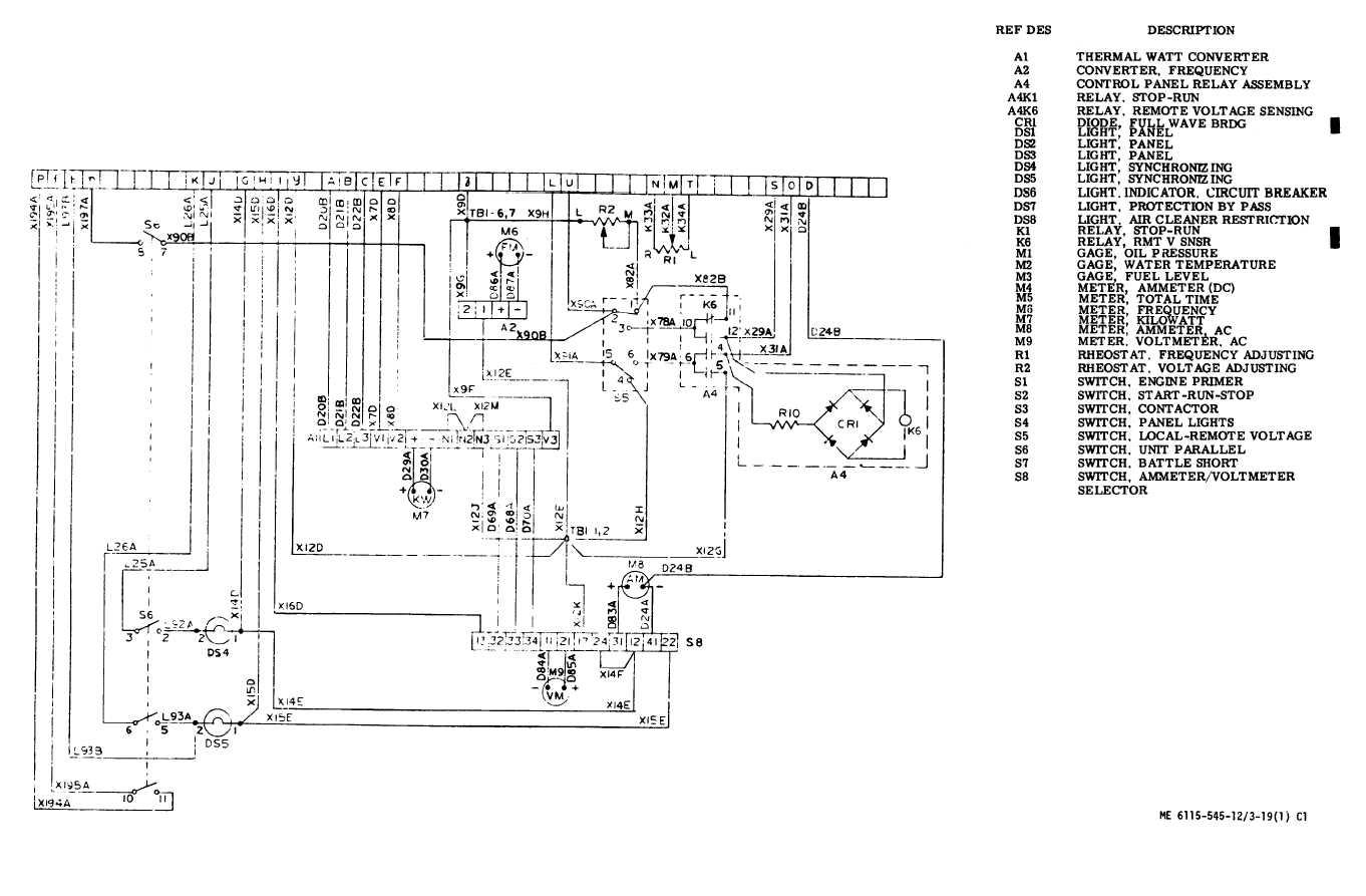 figure 3 19 control cubicle schematic diagram sheet 1 of 2 rh dieselgenerators tpub com Schematic Diagram Example Schematic Diagram Physics