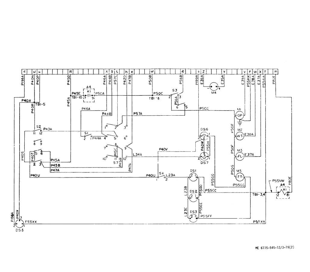 TM 5 6115 545 12_184_1 figure 3 19 control cubicle schematic diagram (sheet 2 of 2 cubicle wiring diagram at sewacar.co
