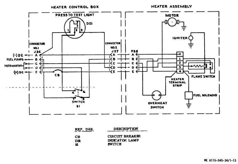 figure 1 13 schematic diagram, fuel burning winterization kitschematic diagram, fuel burning winterization kit