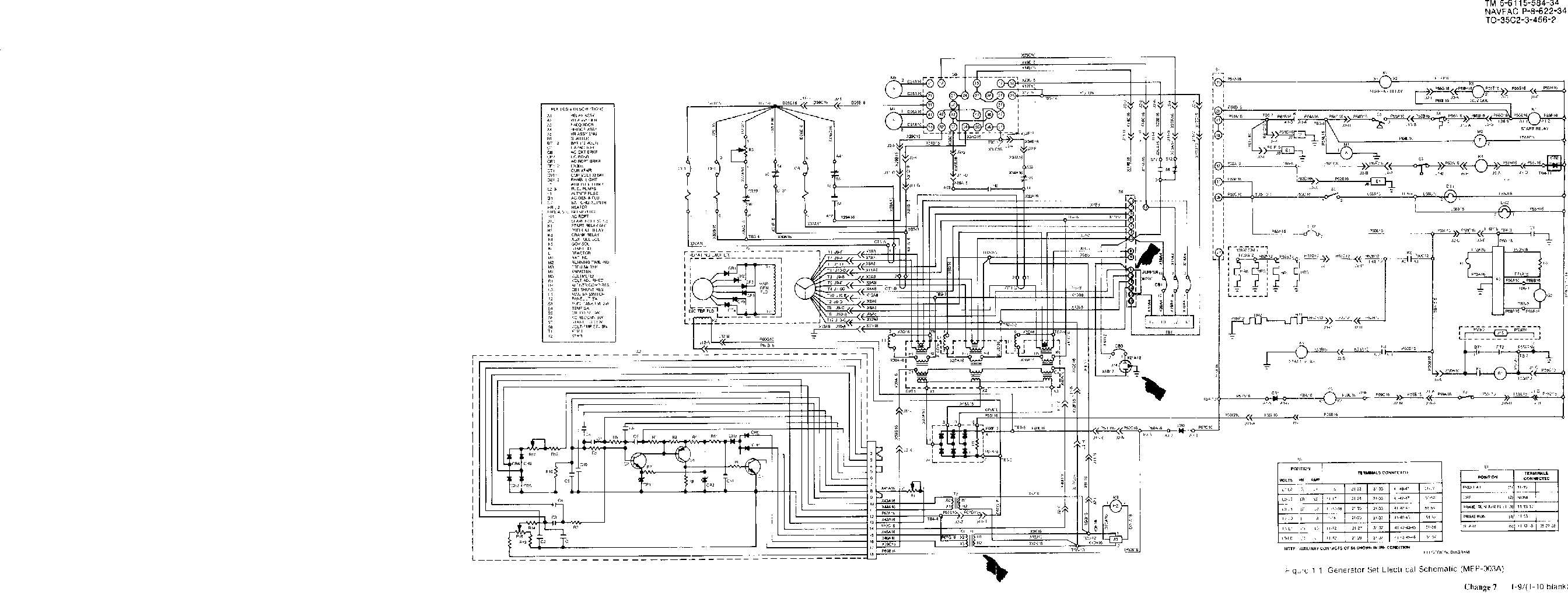 Figure 11 Generator Set Electrical Schematic Diagram