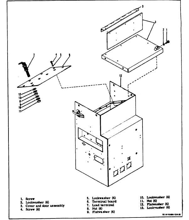 figure 4-32  load terminal board assembly