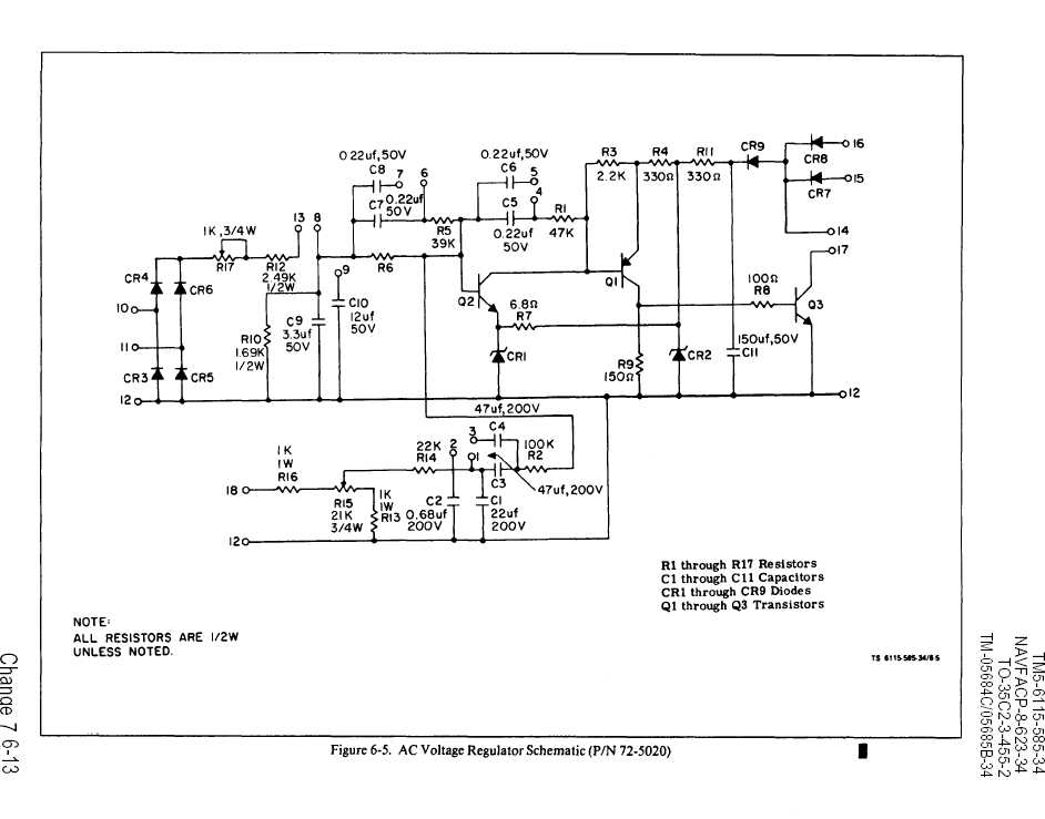 figure 6 5 ac voltage regulator schematic tm 5 6115 585 34 91 ac voltage regulator schematic tm 5 6115 585 34 91