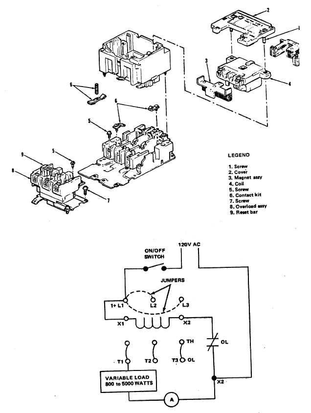 Figure 3 4 Contactor K120 Exploded View And Test Setup