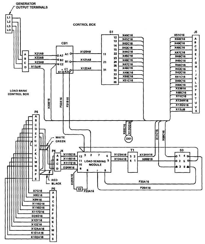 Figure 5-13. Load Bank Wiring Diagram, Dwg. No. 72-2826 ... on