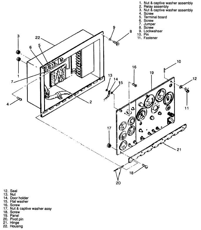 ARMY TM 9 6115 464 34 AIR FORCE 35C2 344 2 NAVY NAVFAC P 8 624 Figure 3 56 Control Cubicle Housing Assembly Exploded View 134