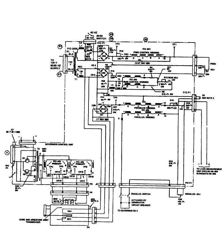 Figure 3 74 50 60 Hz Governor Control Unit Schematic