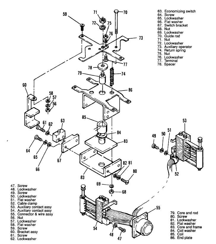 Figure 3 100 Main Load Contactor Type A Exploded View Sheet 3 Of 3