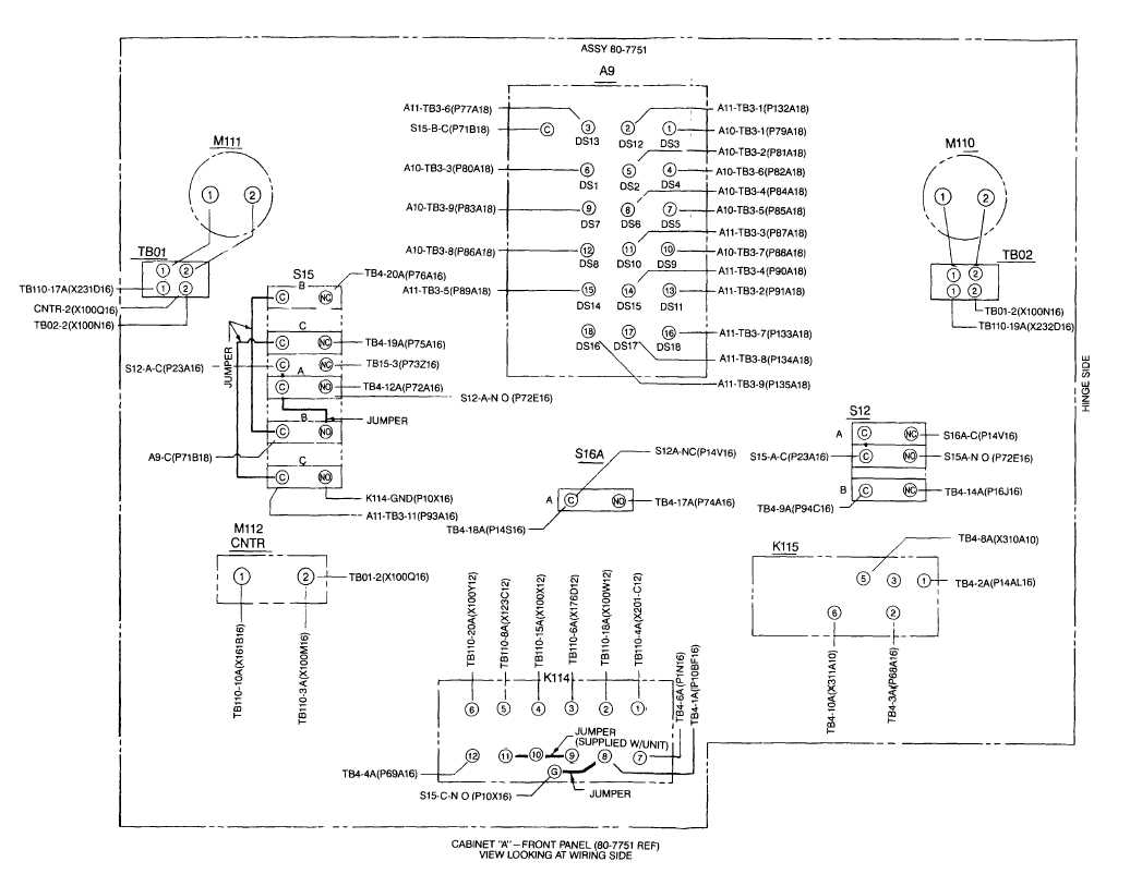 Fo-8  Cabinet A Door Wiring Diagram