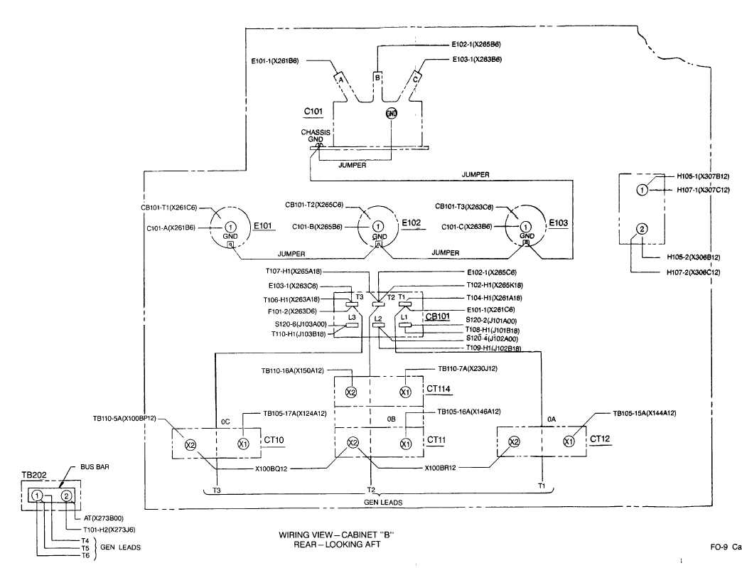 Fo 9 Cabinet B Wiring Diagram Sheet 1 Of 3 Tm 6115 604 12 510 H2 55 56 Blank