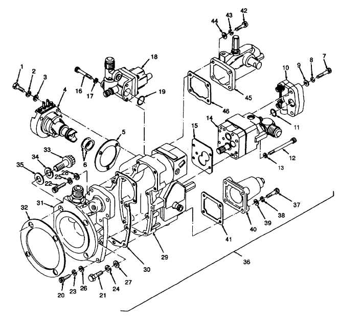 Figure 6 5 Fuel Injection Pump Subassemblies Exploded View Sheet