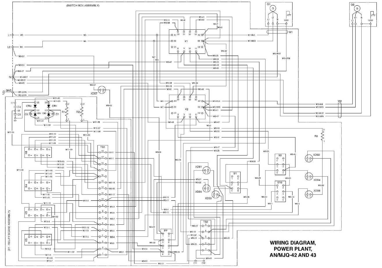 wiring diagram  power plant  an  mjq